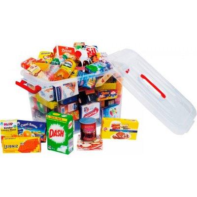 Lebensmittelsortiment Markenminiaturen in Kunststoffbox - 50 Stück