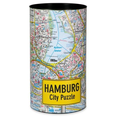 Stadtplanpuzzle Hamburg City-Puzzle