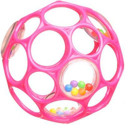 Oball Rattle Greifball pink mit Rassel 10cm