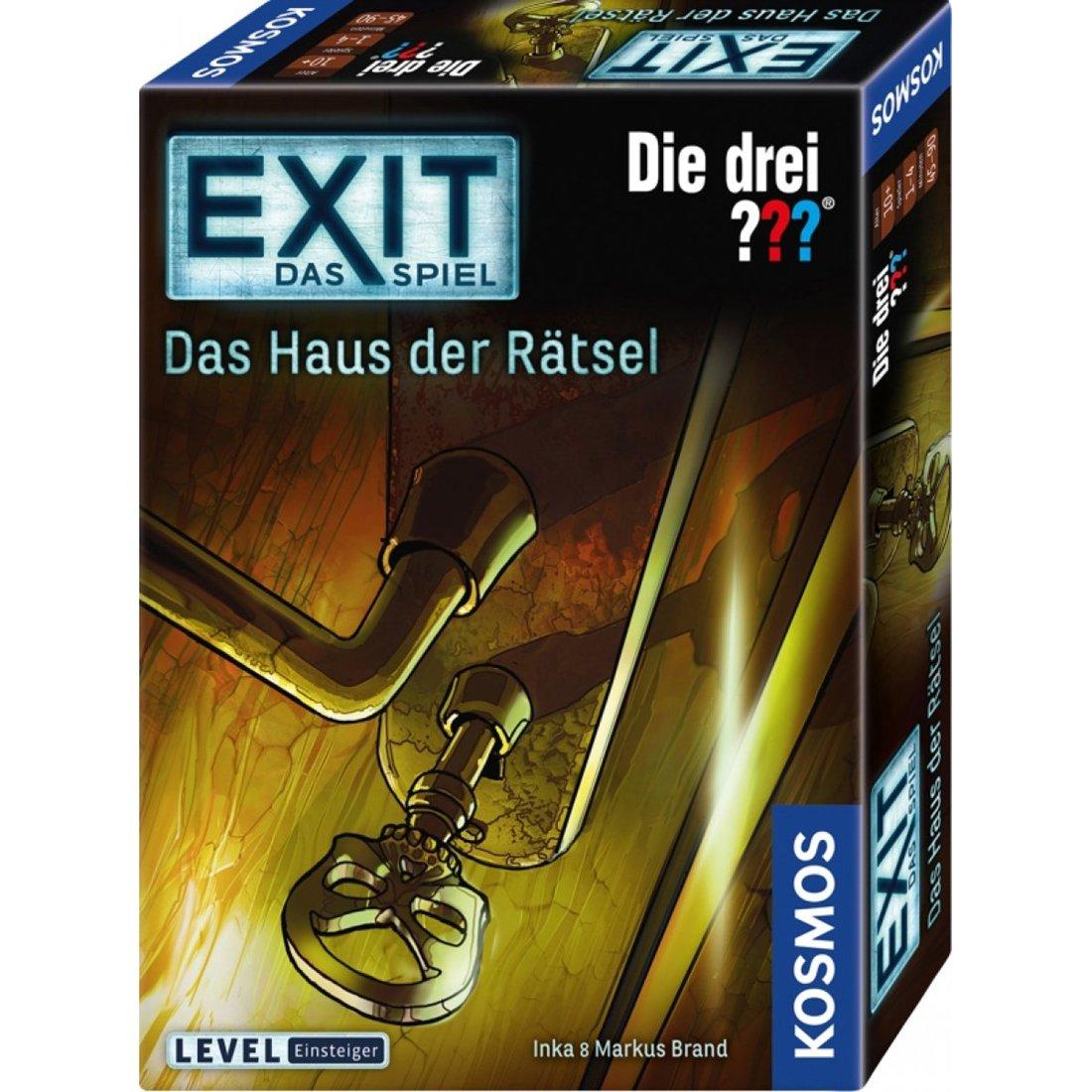 Exit-Spiel - Die drei ??? Das Haus der Rätsel - Kosmos-Spiel, Einsteigerlevel ab 10 Jahre